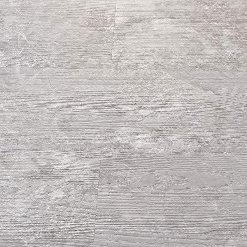 neu.holz Vinyl Laminat ca. 1 m² 'Slate Grey Oak' Bodenbelag Selbstklebend rutschfest 7 Dekor-Dielen für Fußbodenheizung