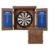 "American Legend Charleston Solid Wood Bristle Dartboard Cabinet Set - Includes 18"" dartboard and 6 steel tip darts"