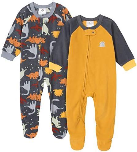 Gerber Baby Boys 2 Pack Blanket Sleeper Dinosaurs Black 3 6 Months product image