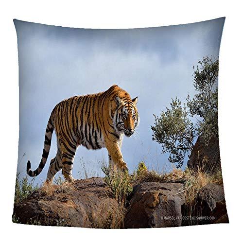 QLCUY Mantas para Sofa Tigre Animal Manta Polar Tiro, Suave Manta del Tiro Caliente For Adultos De Los Niños Pareja, Tirar Mantas For El Sofá, 150 * 200Cm