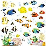DECOWALL 1311 1611s 1811 8009 8027 8035 - Adhesivo decorativo para pared, diseño de animales marinos Talla:Klein 8035