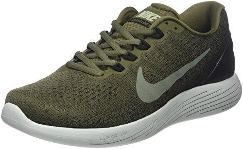 Nike Men's Lunarglide 9 Running Shoes, Green (Medium Olive/Dark Stucco/Black 200), 6.5 UK