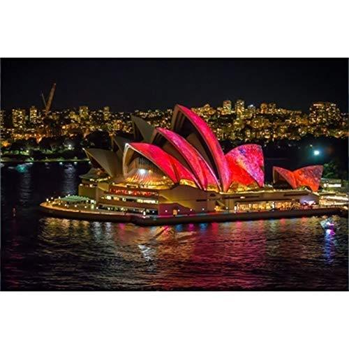 Paesaggio puzzle 5000 pezzi for adulti bambini Teen - I bambini giocattolo educativo intellettiva Famiglia grande outdoor Uscire decorazione della parete di Sydney Opera House at Night 62x42 pollici
