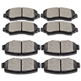 SCITOO Compatible with Ceramic Disc Brake Pads Set for 2007-2011 for Dodge Nitro, 2008-2012 for Jeep Liberty, 2007-2017 for Jeep Wrangler, 2018 for Jeep Wrangler JK