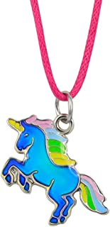 Fairy Tale Cute Unicorn Pendant Color Change Mood Necklace Gift For Girls