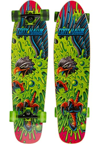 TONY HAWK 31quot Complete Cruiser Skateboard  Slime Hawk Graphic Longboard