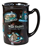 West Virginia State Landmarks Brown Souvenir Raised Coffee Mug