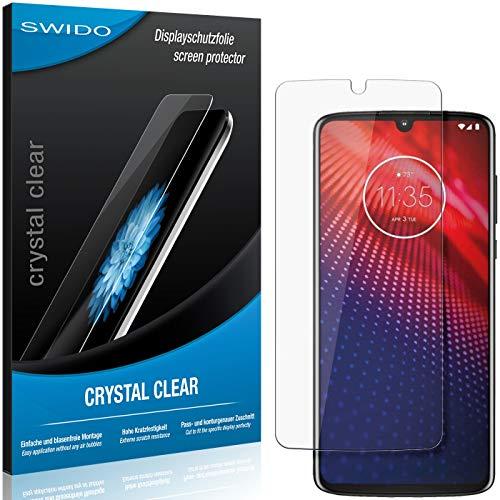 SWIDO Schutzfolie für Motorola Moto Z4 [2 Stück] Kristall-Klar, Hoher Festigkeitgrad, Schutz vor Öl, Staub & Kratzer/Glasfolie, Bildschirmschutz, Bildschirmschutzfolie, Panzerglas-Folie