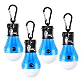 DealBang LED Tent Light for Camping, 150 Lumens LED Hanging Light Bulbs for Outdoor Fishing, Hiking, Camping, Backpacking, Emergency, Hurricane, Storm,Outage (Blue,4-Pcs)