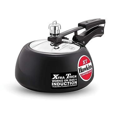 Hawkins Contura BlackXT Induction Compatible Pressure Cooker, 2 Litre, Black (CXT20)