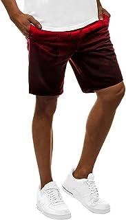 Stoota 2020 Men's Summer Gradient Pants Pockets Inside Training Running Sports Short Pants Joggers Biker Shorts Cargo Pants