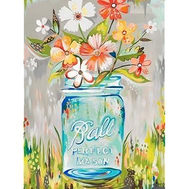 "QH Mason Jar by Katie Daisy Funny Home Decoration 15.7""x23.6"" Bath Mat Rugs Non-Slip Rectangle Floor Entryways Outdoor Indoor Front Door Mat Carpet (5)"