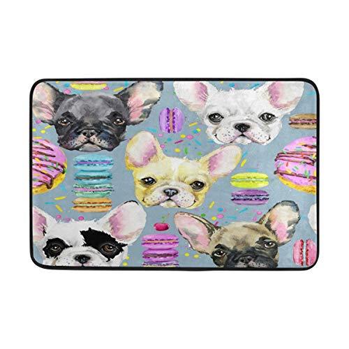 N\ A Watercolor Chihuahua Dog Donut Cherry Doormats Welcome Door Mat Entry Rugs for Inside House, Front Back Door, Entrance Way Outdoor, Entryway Indoor, Garage, Outside, Patio,Doorway,Home,Kitchen