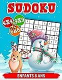 Sudoku enfants 8 ans: Sudoku pour Enfants avec Solutions - Livre de Jeux Sudoku pour Filles & Garçons - Livre de Jeux pour Noël - Livre d'activités pour Enfants dès 8 ans.