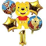 Pack 6 Globos Winnie The Pooh Miotlsy-Decoración con temática de Winnie The Pooh para Favores Regalo Carnaval Boda Fiestas y cumpleaños,Ideal para Decorar Tus Fiestas