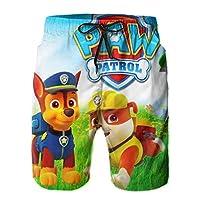 Paw Patrol パウパトロール メンズサーフパンツ水着 通気性 ビーチパンツ 水泳パンツ 休日 速乾性 ユニー ボードパンツ 海パン 5分丈