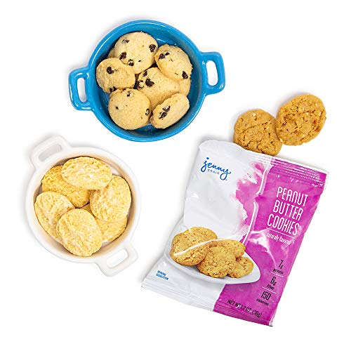 Jenny Craig Smart Cookie Snack Pack, Chocolate Chip Cookies, Peanut Butter Cookies, Lemon Cookies, 6 Count