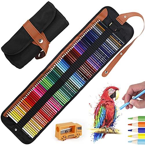 Tonsooze 72 lápices de colores Lápices de Acuarela Solubles en Agua Juego Lapices de Dibujo Artículos de Arte con Lápices de Colores Sacapuntas Extensor para Adultos Niños Artist