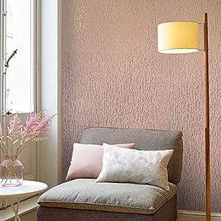 15m European Slavyanski modern vinyl wallpaper rose gold metallic pink plain faux rustic plaster coverings textured pattern 50 feet roll wallcoverings wall paper decal decor textures washable rolls