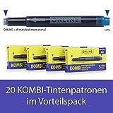 Online Kombi-Tintenpatronen 4er Pack königsblau