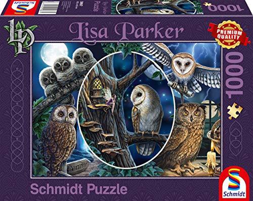 Schmidt Spiele 59667 Lisa Parker, Geheimnisvolle Eulen, 1000 Teile Puzzle, bunt