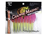 Crappie Magnet Paquete de 8 imanes para losa, Color Rosa y Verde Amarillento
