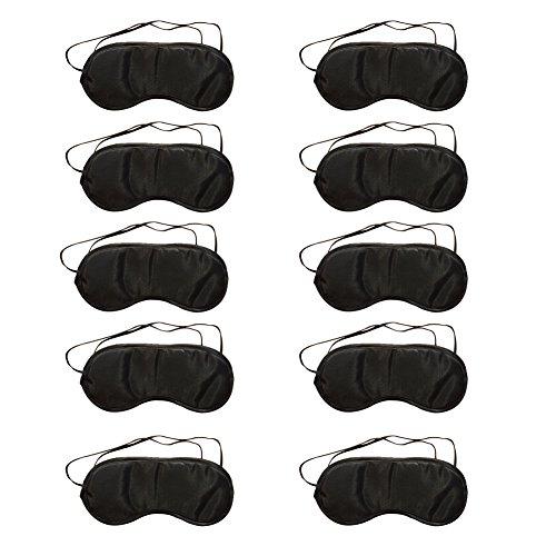 CAOLATOR Schlafmaske Atmungsaktiv Augenmaske Reisen Schlaf-Beihilfen Komfortablen Schlaf Brille mit Elastisches Gummiband 10 Stücke (Nein Nasenpflege)