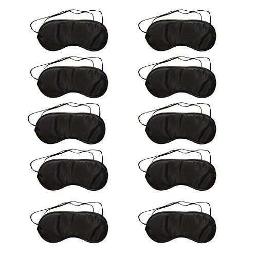 Lubier 10 Pcs Eyes Mask Ultra Soft Sleeping Mask Comfortable Sleep Mask with Block Light Aid Cover Blindfold Eye Patch