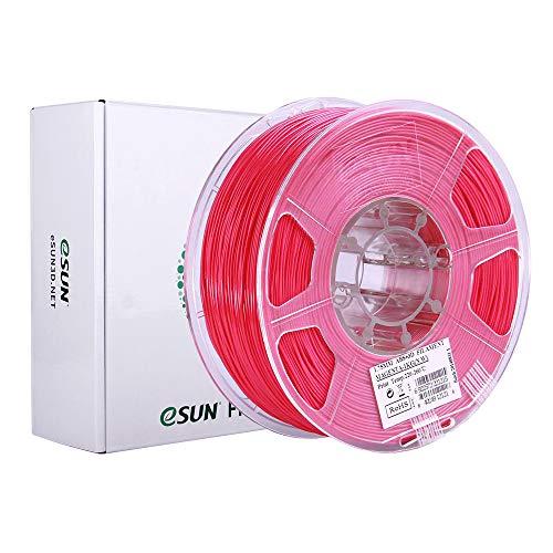 eSUN Filamento ABS Plus 1.75mm, Stampante 3D Filamento ABS+, Precisione Dimensionale +/- 0.05mm, Bobina da 1KG (2.2 LBS) Materiali di Stampa 3D per Stampante 3D, Rosso Chiaro