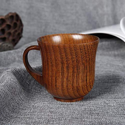 MINGZE Taza de té Pequeño Hecho a Mano Natural de Madera Maciza Taza de té Vino de Madera Café Taza de Beber Agua 8.9 CM X 9 CM