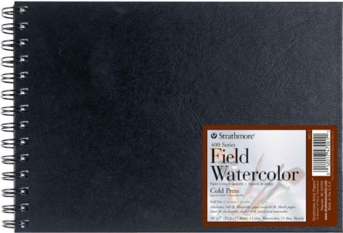 Strathmore 400 Series Wire Bound Field Watercolor Book: 10' x 7'