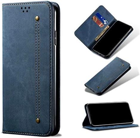 Huawei Nova 8 SE Case 3D Shockproof Premium PU Lederen ShockAbsorptie Notebook Portemonnee Telefoongevallen met Magnetische Kickstand Kaarthouders Bumper Flip Beschermhoes voor Huawei Nova 8 SE blauw