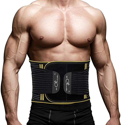SZ-Climax Back Brace, Lumbar Support Belt Waist Backbrace for Back Pain Relief, Sciatica, Scoliosis and Herniated Disc, Compression Belt for Men and Women with Detachable Spring Strip - S