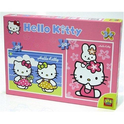 SES 5068  Puzzle Infantil de Hello Kitty  (2 x 20 Piezas)