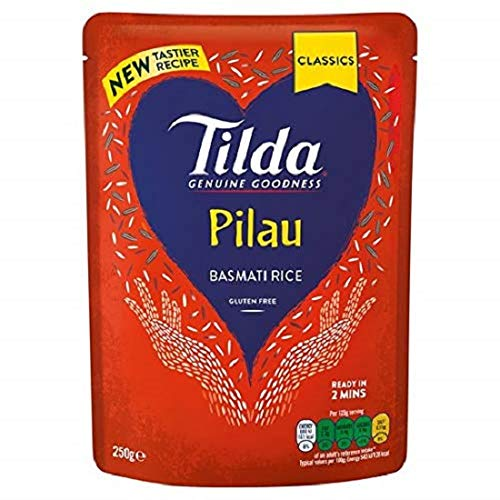 Tilda Pilau Steamed Basmati g 250 Rice Classics Seasonal Wrap Introduction Price reduction