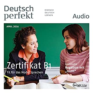 Deutsch perfekt Audio. 4/2016 Titelbild