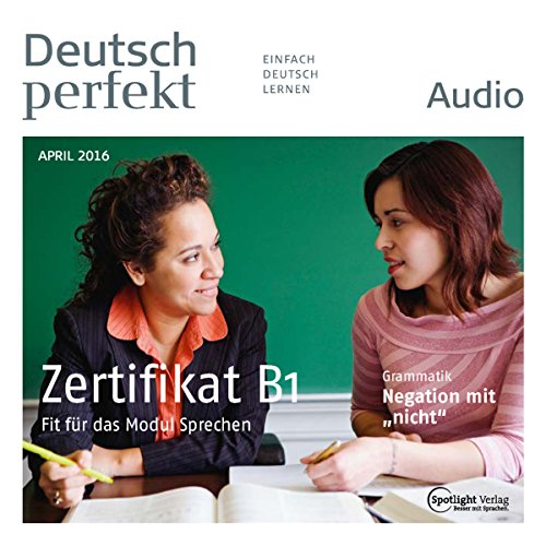 Deutsch perfekt Audio. 4/2016 audiobook cover art