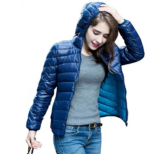 RCFRGV Daunenjacke Damen Damen Ultra Light Daunenjacke Double Side Wendejacken Plus Size 4XL Feather Jackets Women