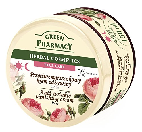Green Pharmacy Antifalten Rosa Gesichtscreme 150ml