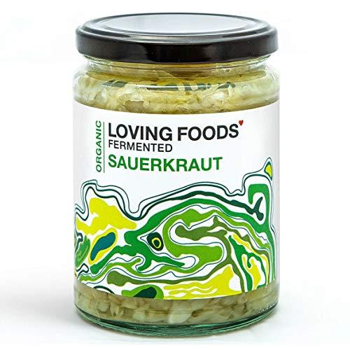 Loving Foods Bio Klassischer Sauerkraut (500g) ROH | NICHT PASTEURISIERT | LEBENDIG (6 x Gläser)