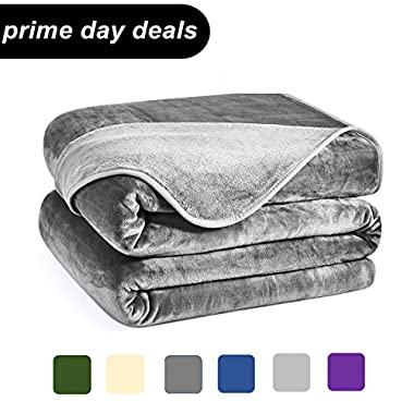 Charm Heart Luxury Fleece Blanket King Size Lightweight Silky Super Soft Summer Cooling Cozy Flannel Warm Plush All-Season Anti-static Bed Couch Sofa Blanket (King,Dark Grey)