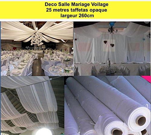 50 m stof decoratie bruiloft H260 cm bank, gebroken