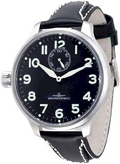 Zeno Watch Basel - Reloj para Hombre Analógico Meccanico con Brazalete de Cuero 9558SOS-12Left-a1