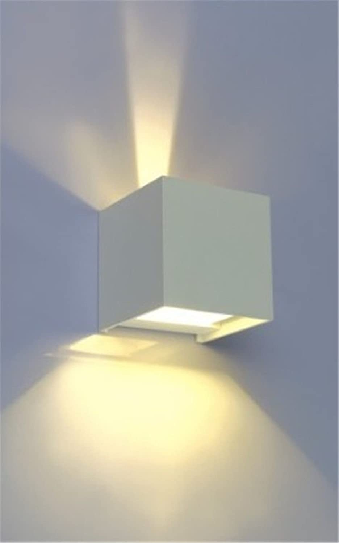 StiefelU LED Wandleuchte nach oben und unten Wandleuchten Wasserdicht Wand Beleuchtung Wandleuchten outdoor wasserdicht Wand leuchtet nach oben und unten Strahl einstellbar Aluminium Wandleuchte, Silber