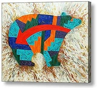 "Spirit Bear 01-11.25""H x 14""W Canvas Print"