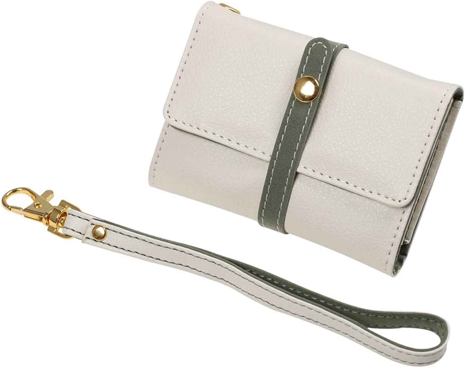 FCM0109 Beige Green Purse Women's Leatherette Wallet Perfect Gift By FashionOn
