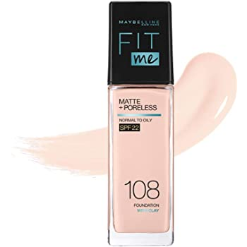 MAYBELLINE(メイベリン) フィットミー リキッド ファンデーション R 108 明るい肌色(ピンク系) 30ml