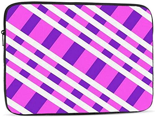 Purple Plaid Laptop Sleeve Bag - Evecase 15″ Neoprene Universal Sleeve Zipper Sleeve Cover Case for Notebook