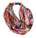 J26 Gradiente de flores Mamor seda verano Loop rayas arco iris Silk Uni bufanda redonda bufanda bufanda bufanda bufanda bufanda bufanda ligera rosa 180 x 70 cm