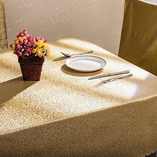 LWF-Nappe européenne Nappe rectangulaire Imperméable à l'eau Tissu à déglaçage à l'éponge Tissu en tissu massif Tissu à café (Color : #-6, Size : 130 * 190CM)